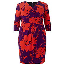 Buy Studio 8 Aminta Jersey Dress, Electric Violet/Pout Online at johnlewis.com