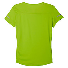 Buy Adidas Run Crew Neck Training T-Shirt, Green Online at johnlewis.com