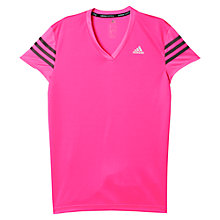 Buy Adidas Response Short Sleeve Running T-Shirt, Pink Online at johnlewis.com