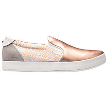Buy Geox Modesty Flat Slip On Trainers, Rose Gold/Peach Online at johnlewis.com