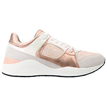 Buy Geox Omaya Flat Lace Up Trainers, Off White/Peach Online at johnlewis.com