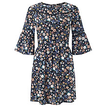 Buy Miss Selfridge Petite Woodland Floral Dress, Black/Multi Online at johnlewis.com