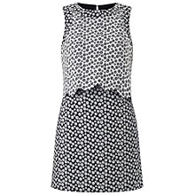 Buy Miss Selfridge Petite Jacquard Scallop Dress, Black Online at johnlewis.com