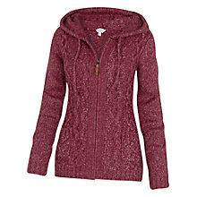 Buy Fat Face Alicia Cable Zip Thru Cardigan, British Plum Online at johnlewis.com