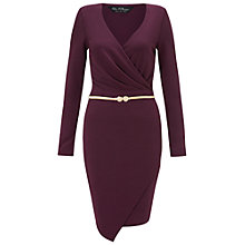Buy Miss Selfridge Wrap Front Long Sleeve Dress Online at johnlewis.com