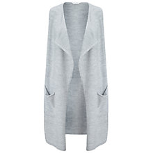Buy Miss Selfridge Waterfall Knitted Duster Cardigan, Light Grey Online at johnlewis.com