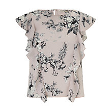 Buy Miss Selfridge Printed Ruffle Shell Top, Multi Online at johnlewis.com