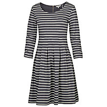 Buy Fat Face Kew Stripe Dress, Phantom Online at johnlewis.com