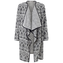 Buy Miss Selfridge Waterfall Ikat Cardigan, Multi Online at johnlewis.com