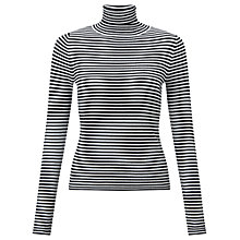Buy Miss Selfridge Striped Rib Jumper, Black/White Online at johnlewis.com