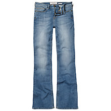 Buy Fat Face Smithy Bootcut Jeans, Retro Blue Denim Online at johnlewis.com