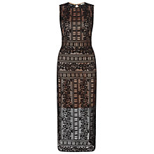 Buy Miss Selfridge Lace Tabard Maxi Dress, Black Online at johnlewis.com