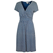 Buy Fat Face Camille Cloud Ditsy Dress, Indigo Online at johnlewis.com