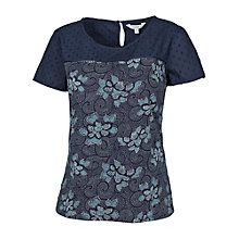 Buy Fat Face Bampton Midnight Floral T-Shirt, Indigo Online at johnlewis.com