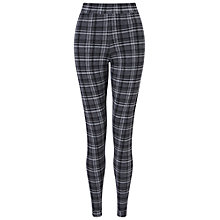 Buy Miss Selfridge Checked Tube Trousers, Grey Online at johnlewis.com