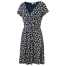 Buy Fat Face Camille Cross Over Butterfly Dress, Navy/Multi Online at johnlewis.com
