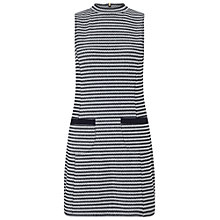 Buy Miss Selfridge Petites Stripe Jacquard Dress, Navy/Multi Online at johnlewis.com