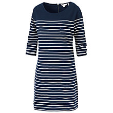 Buy Fat Face Tenby Breton Stripe Dress, Navy Online at johnlewis.com