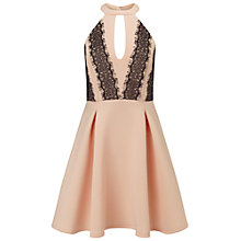 Buy Miss Selfridge Lace Skater Dress, Nude Online at johnlewis.com