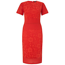 Buy Miss Selfridge Mixed Lace Pencil Dress, Red Online at johnlewis.com