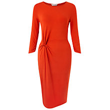 Buy Miss Selfridge Twist Front Midi Dress, Red Online at johnlewis.com