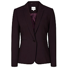 Buy Reiss Camila Textured Blazer, Grape Online at johnlewis.com