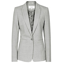 Buy Reiss Aleggra Single Breasted Blazer, Mid Grey Online at johnlewis.com