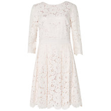 Buy Ted Baker Ameeya Lace Skater Dress, Light Pink Online at johnlewis.com