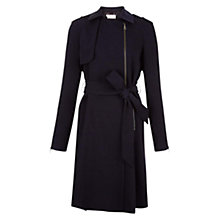 Buy Hobbs Melia Trench Coat, Navy Online at johnlewis.com
