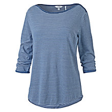 Buy Fat Face Thursley Stripe Top, Indigo Online at johnlewis.com