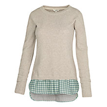 Buy Fat Face Beaulieu Knit Mix Jumper, Misty Surf Online at johnlewis.com