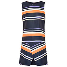 Buy Ted Baker Tribal Stripe Folded Tunic Dress, Navy Online at johnlewis.com