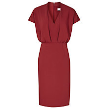 Buy Reiss Dania V-Neck Shift Dress, Rouge Online at johnlewis.com
