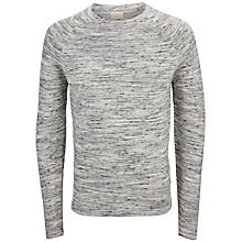 Buy Selected Homme Matthew Crew Neck Jumper, Light Grey Online at johnlewis.com