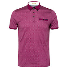 Buy Ted Baker Jazie Geometric Printed Polo Shirt, Purple Online at johnlewis.com