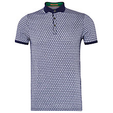 Buy Ted Baker Runapp Spot Print Polo Shirt, Navy Online at johnlewis.com