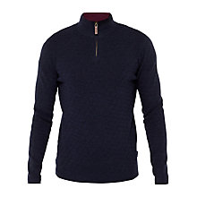 Buy Ted Baker Harfitt Funnel Neck Jumper, Navy Online at johnlewis.com