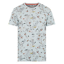 Buy Ted Baker Dragonfly Printed T-Shirt, Light Blue Online at johnlewis.com