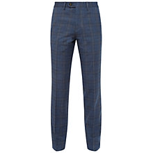 Buy Ted Baker Latro Check Suit Trousers, Blue Online at johnlewis.com
