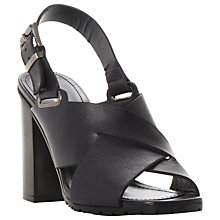Buy Dune Black Jarred Block Heeled Sandals Online at johnlewis.com