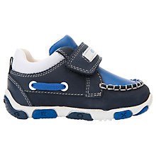 Buy Geox Children's Balù Boy Rip-Tape Shoes, Navy/Royal Online at johnlewis.com