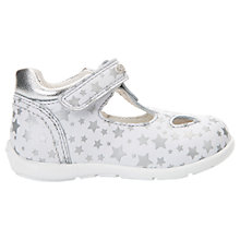 Buy Geox Children's Kaytan Star Shoes, White/Silver Online at johnlewis.com