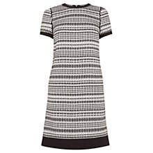 Buy Warehouse Pattern Geo Tweed Shift Dress, Black Online at johnlewis.com