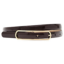 Buy Reiss Lila Skinny Buckle Patent Leather Belt Online at johnlewis.com