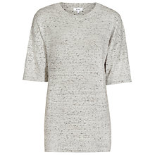 Buy Reiss Knox Short Sleeve Knitted Top, Mint Choc Online at johnlewis.com