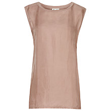Buy Reiss Alli Cupro Vest, Dusk Online at johnlewis.com