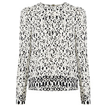 Buy Warehouse Textured Puff Sleeve Top, Multi Online at johnlewis.com