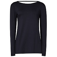 Buy Reiss Maisie Low Back Top, Night Navy Online at johnlewis.com