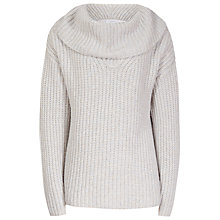 Buy Reiss Langley Chunky Roll Neck Jumper, Oatmeal Online at johnlewis.com