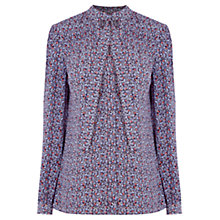 Buy Warehouse Ditsy Tie Neck Blouse, Multi Online at johnlewis.com